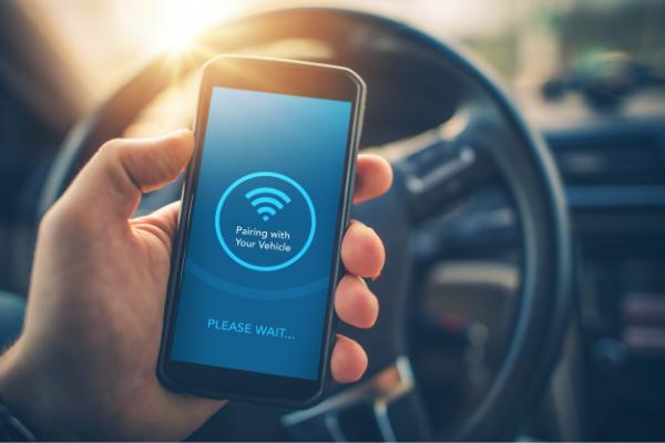車内で無線LANを搭載した携帯を使用